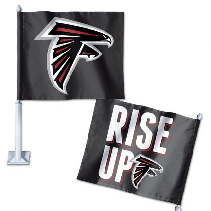"Atlanta Falcons Slogan Car Flag 11.75"" x 14"""