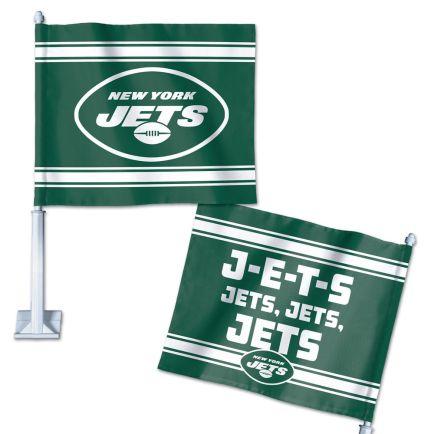 "New York Jets Slogan Car Flag 11.75"" x 14"""