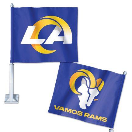 "Los Angeles Rams Slogan Car Flag 11.75"" x 14"""