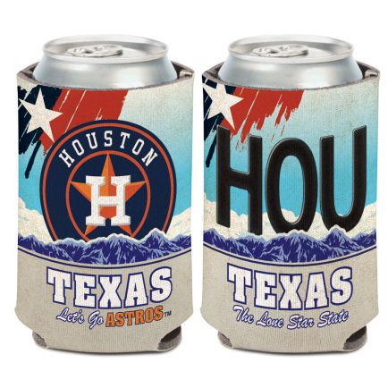Houston Astros STATE PLATE Can Cooler 12 oz.
