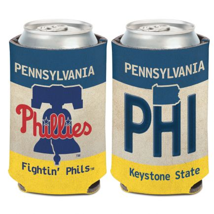 Philadelphia Phillies STATE PLATE Can Cooler 12 oz.