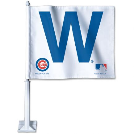"Chicago Cubs Car Flag 11.75"" x 14"""