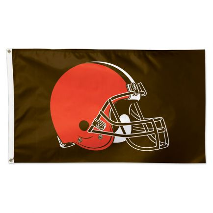 Cleveland Browns Brown background Flag - Deluxe 3' X 5'
