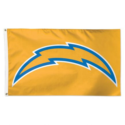 Los Angeles Chargers Yellow Background Flag - Deluxe 3' X 5'