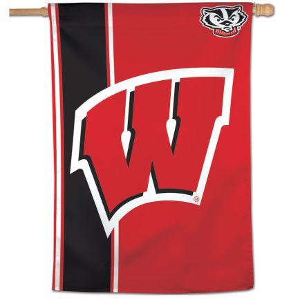"Wisconsin Badgers Stripe Vertical Flag 28"" x 40"""