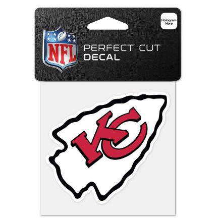 "Kansas City Chiefs Perfect Cut Color Decal 4"" x 4"""