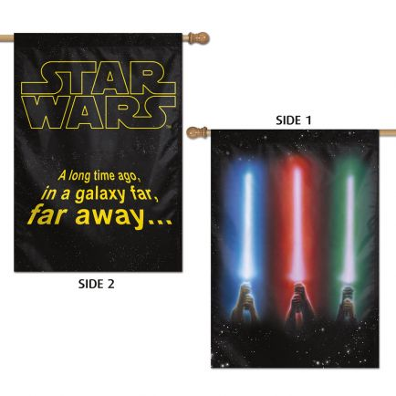 "Original Trilogy / Original Trilogy Vertical Flag 2 Sided 28"" x 40"" Light Sabers"