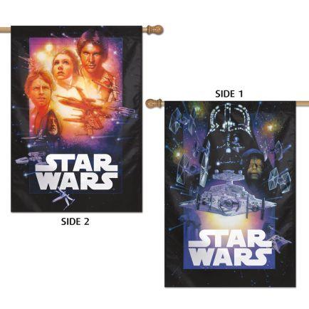 "Original Trilogy / Original Trilogy Vertical Flag 2 Sided 28"" x 40"" Core Logo"
