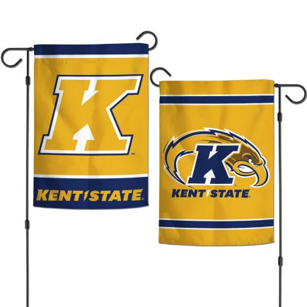 """Kent State Golden Flashes Garden Flags 2 sided 12.5"""" x 18"""""""