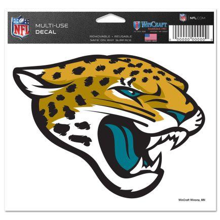 "Jacksonville Jaguars Multi-Use Decal -Clear Bckrgd 5"" x 6"""
