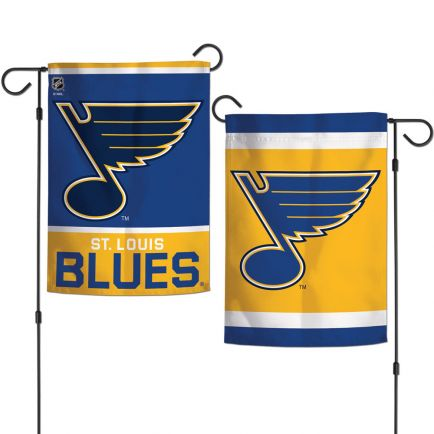 "St. Louis Blues Garden Flags 2 sided 12.5"" x 18"""