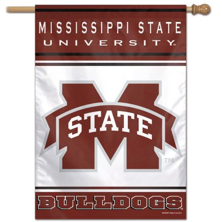 "Mississippi State Bulldogs Vertical Flag 28"" x 40"""