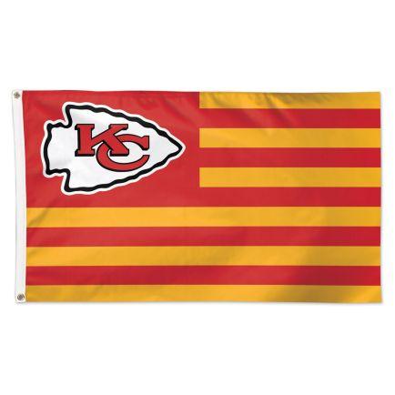 Kansas City Chiefs / Patriotic Americana Flag - Deluxe 3' X 5'