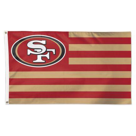 San Francisco 49ers / Patriotic Americana Flag - Deluxe 3' X 5'