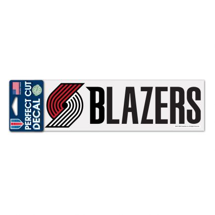 "Portland Trail Blazers Perfect Cut Decals 3"" x 10"""