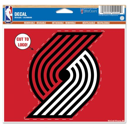 "Portland Trail Blazers Multi-Use Decal - cut to logo 5"" x 6"""