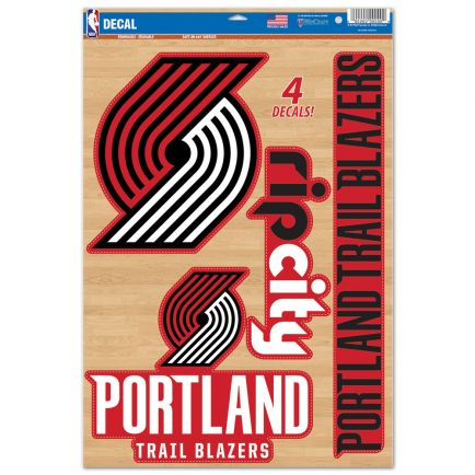 "Portland Trail Blazers Multi-Use Decal 11"" x 17"""