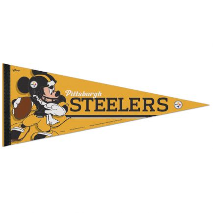 "Pittsburgh Steelers / Disney Mickey Mouse Premium Pennant 12"" x 30"""
