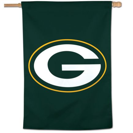"Green Bay Packers Logo Vertical Flag 28"" x 40"""