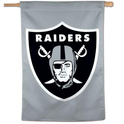 "Las Vegas Raiders Logo Vertical Flag 28"" x 40"""