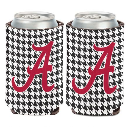 Alabama Crimson Tide /Houndstooth Can Cooler 12 oz.