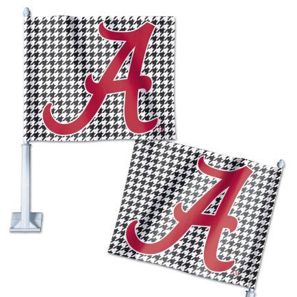 "Alabama Crimson Tide /Houndstooth Car Flag 11.75"" x 14"""