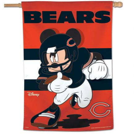 """Chicago Bears / Disney Mickey Mouse Vertical Flag 28"""" x 40"""""""