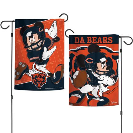 """Chicago Bears / Disney Mickey Mouse Garden Flags 2 sided 12.5"""" x 18"""""""