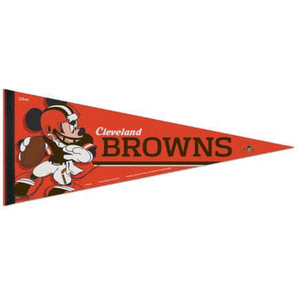 "Cleveland Browns / Disney Mickey Mouse Premium Pennant 12"" x 30"""