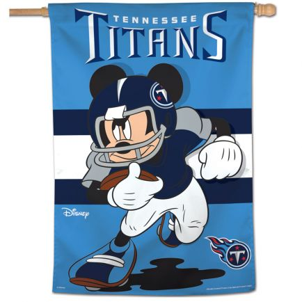 """Tennessee Titans / Disney Mickey Mouse Vertical Flag 28"""" x 40"""""""