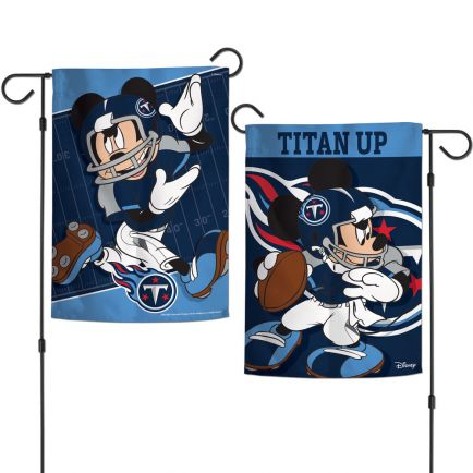 """Tennessee Titans / Disney Mickey Mouse Garden Flags 2 sided 12.5"""" x 18"""""""