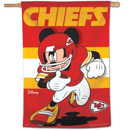 "Kansas City Chiefs / Disney Mickey Mouse Vertical Flag 28"" x 40"""