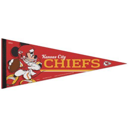 "Kansas City Chiefs / Disney Mickey Mouse Premium Pennant 12"" x 30"""