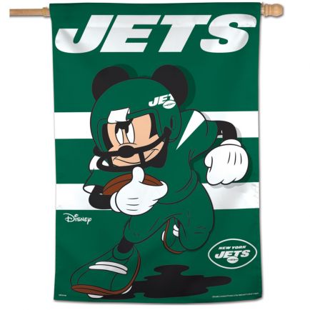 """New York Jets / Disney Mickey Mouse Vertical Flag 28"""" x 40"""""""