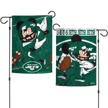 """New York Jets / Disney Mickey Mouse Garden Flags 2 sided 12.5"""" x 18"""""""