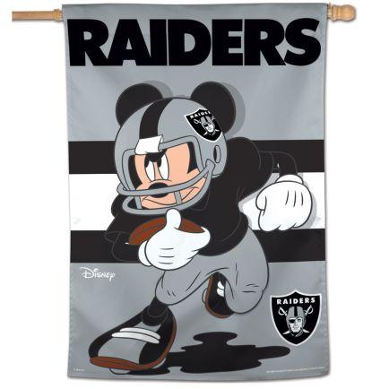 "Las Vegas Raiders / Disney Mickey Mouse Vertical Flag 28"" x 40"""