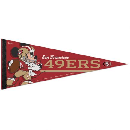 "San Francisco 49ers / Disney Mickey Mouse Premium Pennant 12"" x 30"""