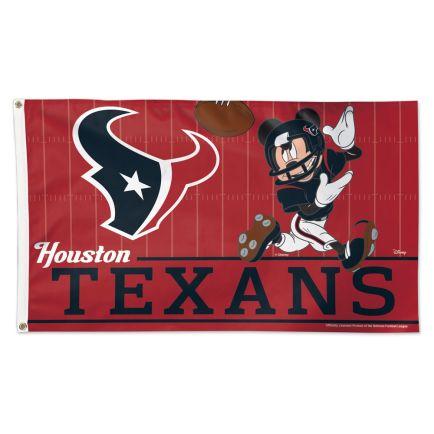 Houston Texans / Disney Mickey Mouse Flag - Deluxe 3' X 5'