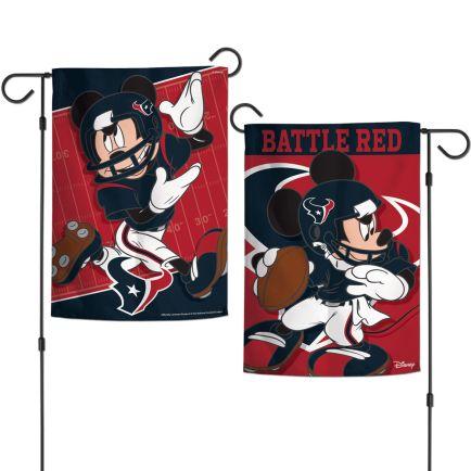 "Houston Texans / Disney Mickey Mouse Garden Flags 2 sided 12.5"" x 18"""