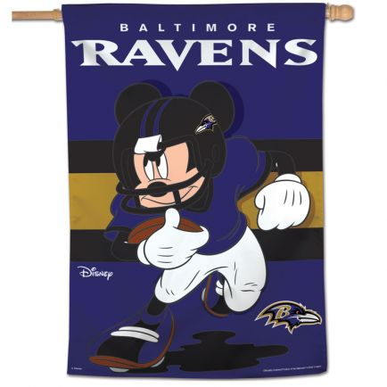 "Baltimore Ravens / Disney Mickey Mouse Vertical Flag 28"" x 40"""