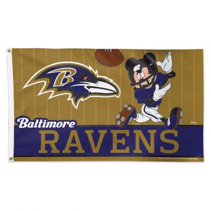 Baltimore Ravens / Disney Mickey Mouse Flag - Deluxe 3' X 5'
