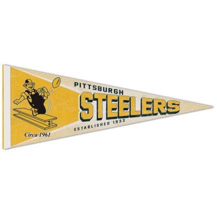 "Pittsburgh Steelers / Classic Logo RETRO Premium Pennant 12"" x 30"""