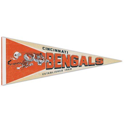 """Cincinnati Bengals / Classic Logo RETRO Premium Pennant 12"""" x 30"""""""