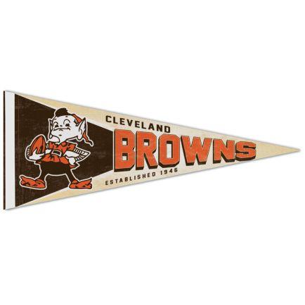 "Cleveland Browns / Classic Logo RETRO Premium Pennant 12"" x 30"""