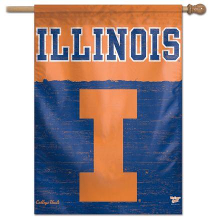 "Illinois Fighting Illini /College Vault VAULT Vertical Flag 28"" x 40"""