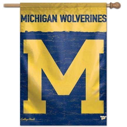 "Michigan Wolverines /College Vault VAULT Vertical Flag 28"" x 40"""