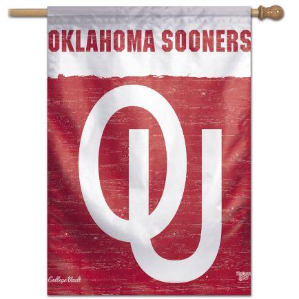 "Oklahoma Sooners /College Vault VAULT Vertical Flag 28"" x 40"""