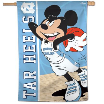 "North Carolina Tar Heels / Disney MICKEY MOUSE BASKETBALL Vertical Flag 28"" x 40"""