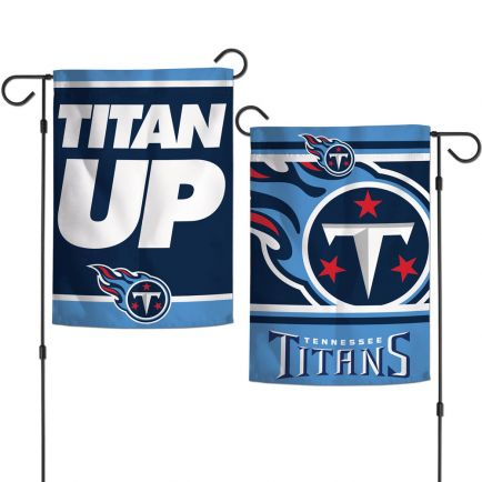 """Tennessee Titans SLOGAN Garden Flags 2 sided 12.5"""" x 18"""""""