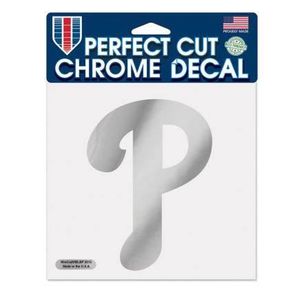 "Philadelphia Phillies Chrome Perfect Cut Decal 6"" x 6"""